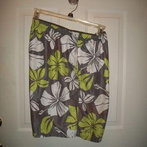 Vintage Speedo swim trunks, board shorts size XL